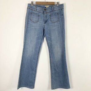 Cabi 12 Jeans Straight Leg Pocket Accents